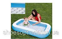 Детский надувной бассейн с надувным дном Intex 166х100х28 см
