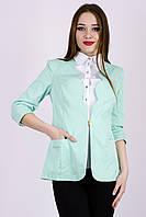 Женский пиджак мятного цвета от YuLiYa Chumachenko