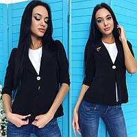 Черный женский пиджак от YuLiYa Chumachenko