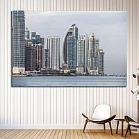 Картина -  Панама Сити Скайлайн, видно из Каско Вьехо