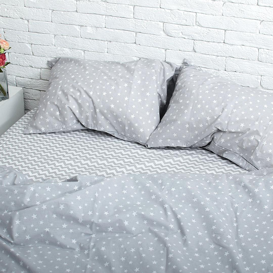 Семейный комплект постельного белья (2 пододеяльника) поплин