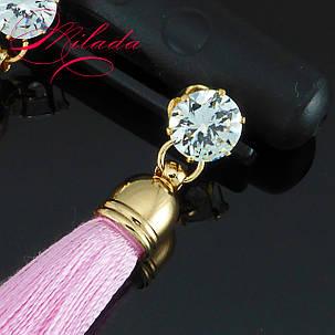 Серьги - кисточки розовые., фото 2