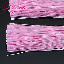 Серьги - кисточки розовые., фото 3
