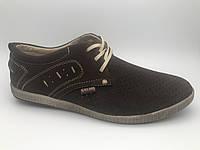 Туфли мужские с перфорацией, кожаная обувь мужская от производителя модель ГЛП5, фото 1
