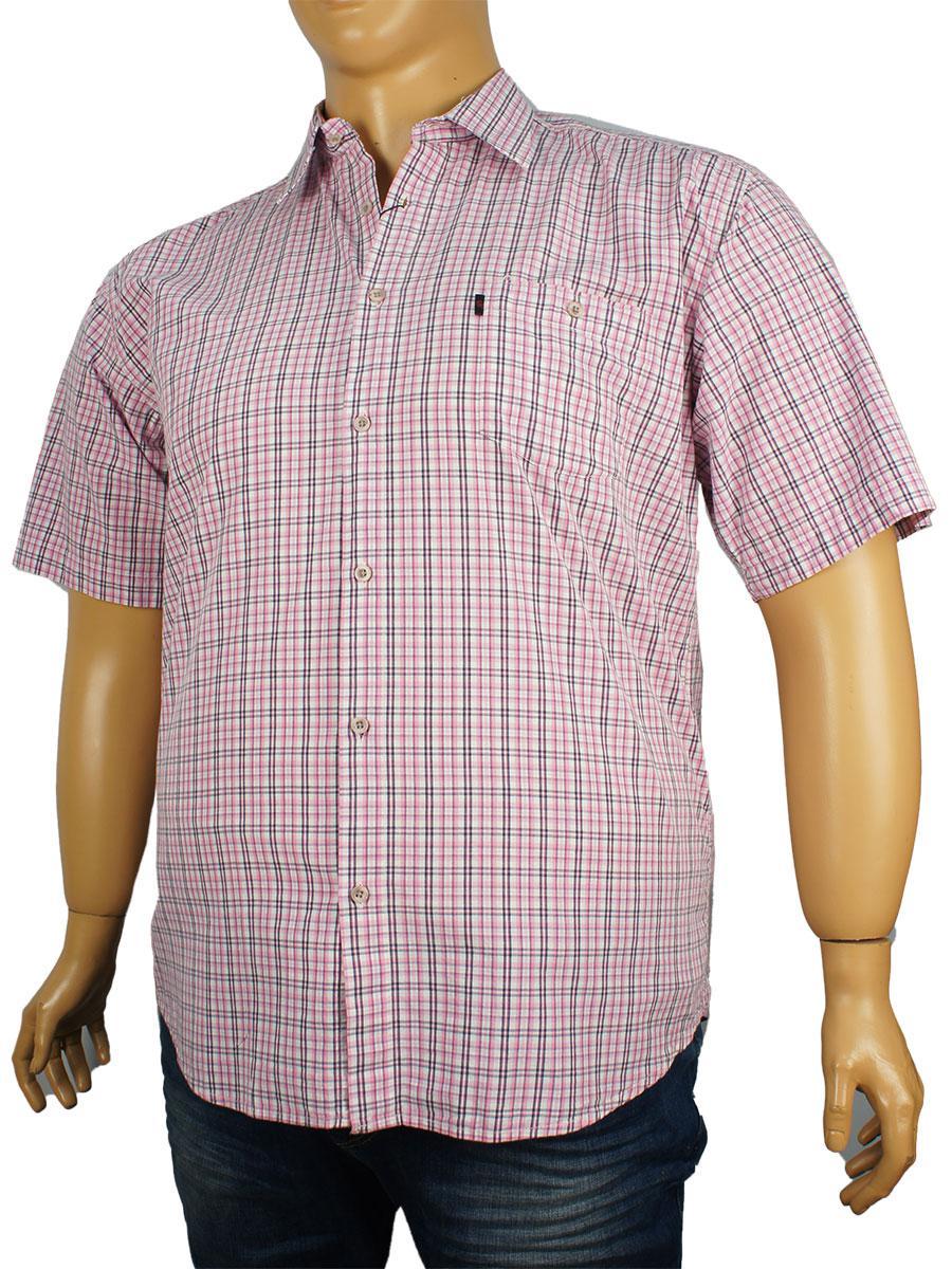 Качественная мужская рубашка Negredо 0340 indigo C размер 4XL