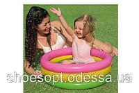 Детский надувной бассейн с надувным дном Intex 61х22 см 35л