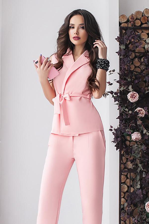 Стильний рожевий брючний костюм Archer