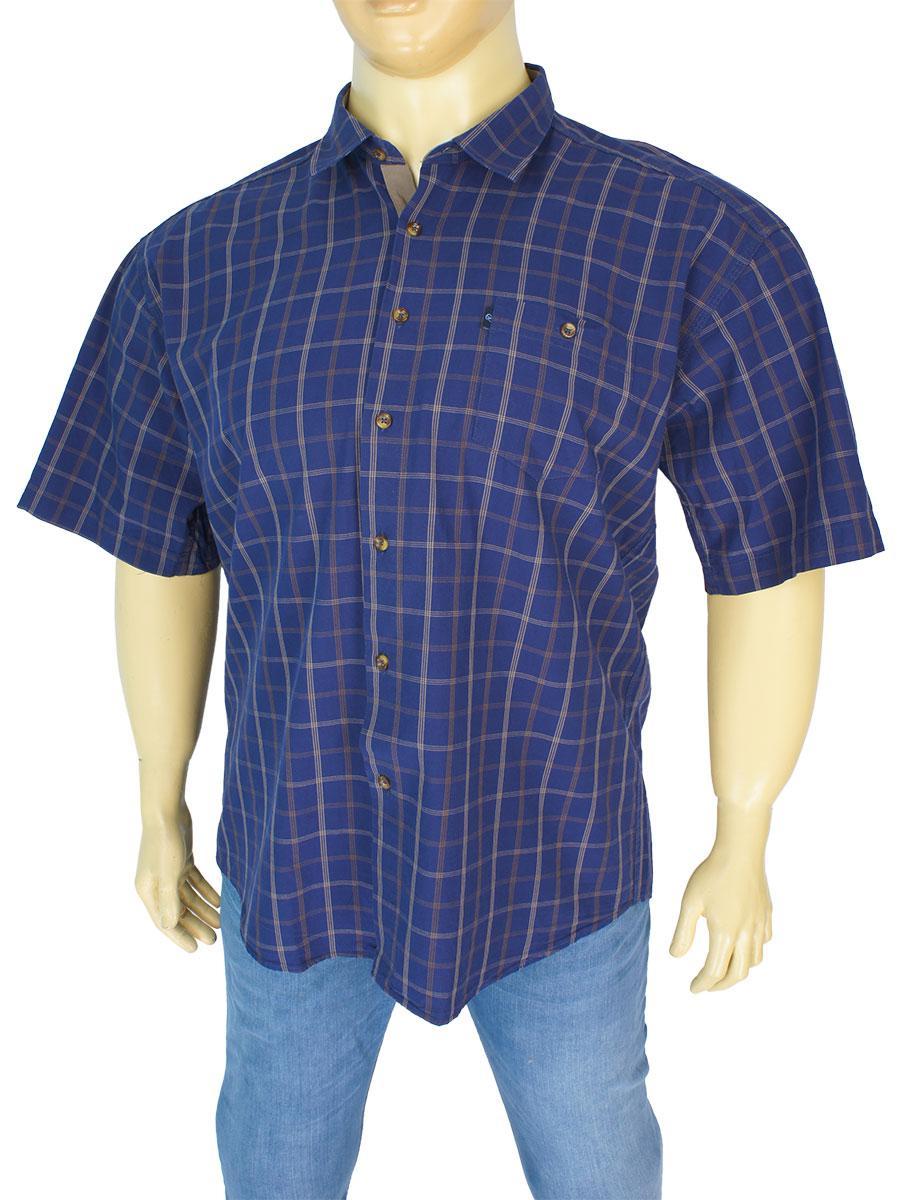 Чоловіча турецька сорочка Negredo 0340 indigo С розмір 5ХL