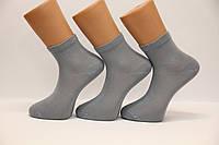 Мужские носки средние с хлопка,кеттельный шов Маржинал 40-45 светло серый, фото 1