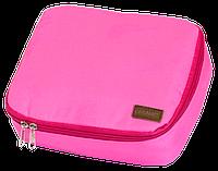 Дорожный органайзер для косметики с отстегивающимся кармашком (Розовый)