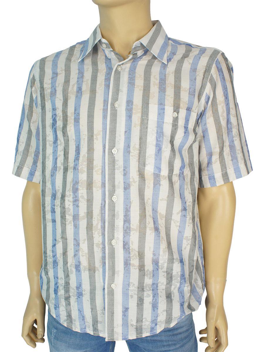 Рубашки мужские с коротким рукавом 0250 С размер М