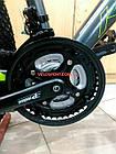 """Горный велосипед Kinetic Storm 27.5 дюймов 21"""" серо-зеленый, фото 6"""