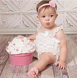 Повязка на голову и на ножки для новорожденной набор, фото 3