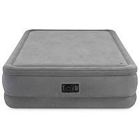 Велюр кровать 64470 152-2,03-51см, встроенный насос 220V, цв.серый