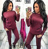 Спортивный костюм женский ангоровый с карманами модный стильный
