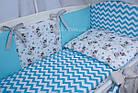 Комплект постельного белья Asik Мишка Тедди с голубым зигзагом 8 предметов (8-266), фото 7