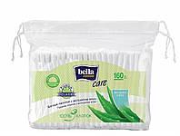 Ватные палочки с экстрактом алоэ, bella cotton (полиэтиленовая упаковка с шнурком), 160 шт.