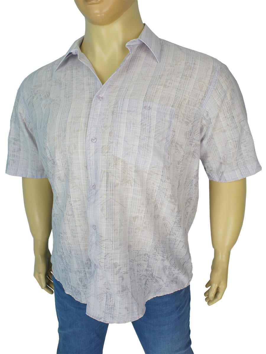 Мужская рубашка больших размеров 0250 С размер 3XL