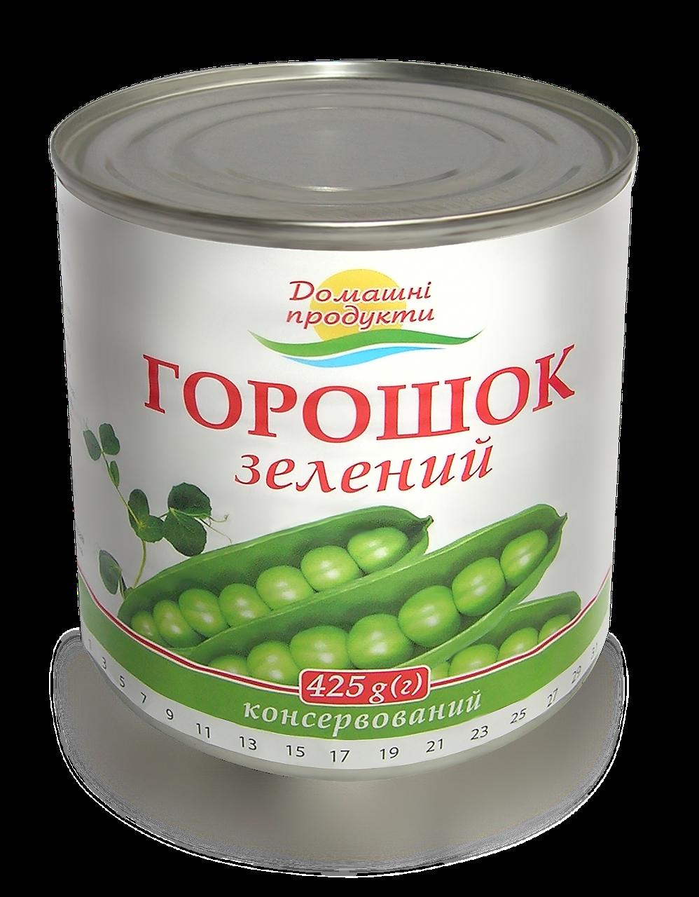 Горошок Домашні продукти 425г зелений консервований ж/б