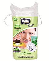 Подушечки из ваты с экстрактом алоэ, bella cotton, 50 шт.