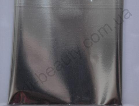 Фольга для дизайна ногтей, литья (переводная). Цвет: глянцевая серебро (Размер: 4см на 1 метр)