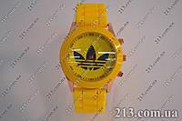 часы Adidas силиконовый ремешок желтые