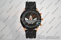 часы Adidas силиконовый ремешок Черные годинник Адідас