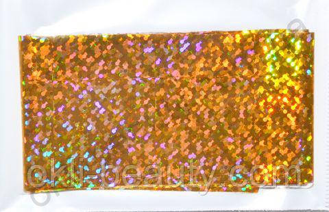 Фольга для дизайна ногтей, литья (переводная). Цвет: золото мелкие точки (Размер: 4см на 1 метр)