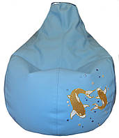 Кресло-мешок пуф груша мешок с игровая мебель подарок ребенку с вышивкой