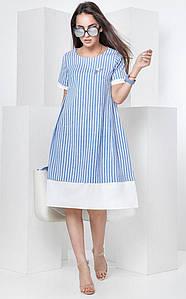 Летнее платье с асимметричным низом