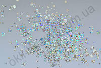Конфетти, камифубуки #14 прозрачные для дизайна ногтей, голографические