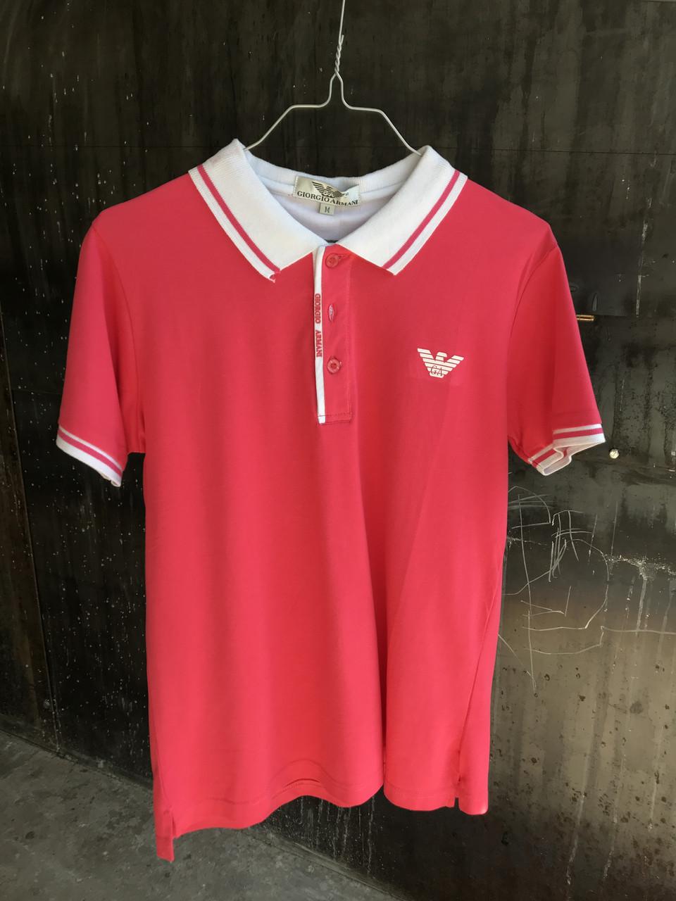 Мужская тениска Giorgio Armani.Розовая