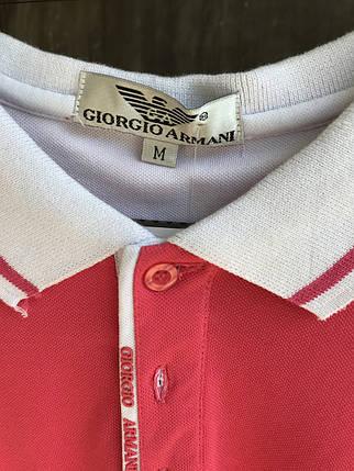 Мужская тениска Giorgio Armani.Розовая, фото 2