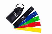 Резинки для фитнеса (фитнес-резинки) 5 лент+мешочек. Mini loop band. Ленты сопротивления. Эспандеры