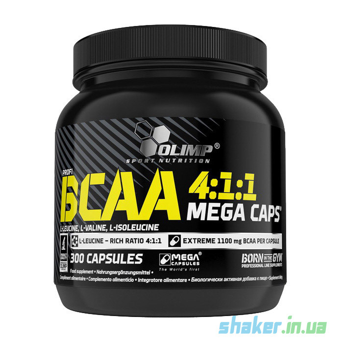 БЦАА Olimp BCAA 4:1:1 Mega Caps (300 капсул) олимп мега капс