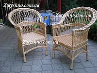 Кресло из лозы плетеное для дачи