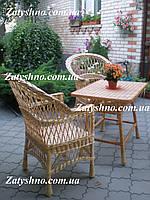 Мебель из лозы, комплект из 2 кресел и стола