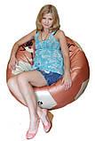Бескаркасное кресло мяч мешок пуф, фото 2