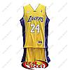 Баскетбольная форма НБА Лос-Анджелес Лейкерс, Коби Брайант №24, желтая