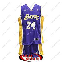 Баскетбольная форма НБА Лос-Анджелес Лейкерс, Коби Брайант №24, фиолетовая