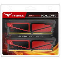 Модуль памяти для компьютера DDR4 8GB (2x4GB) 3200 MHz T-Force Vulcan Red Team (TLRED48G3200HC16CDC01)