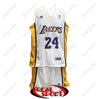 Баскетбольная форма НБА Лос-Анджелес Лейкерс, Коби Брайант №24, белая, фото 1