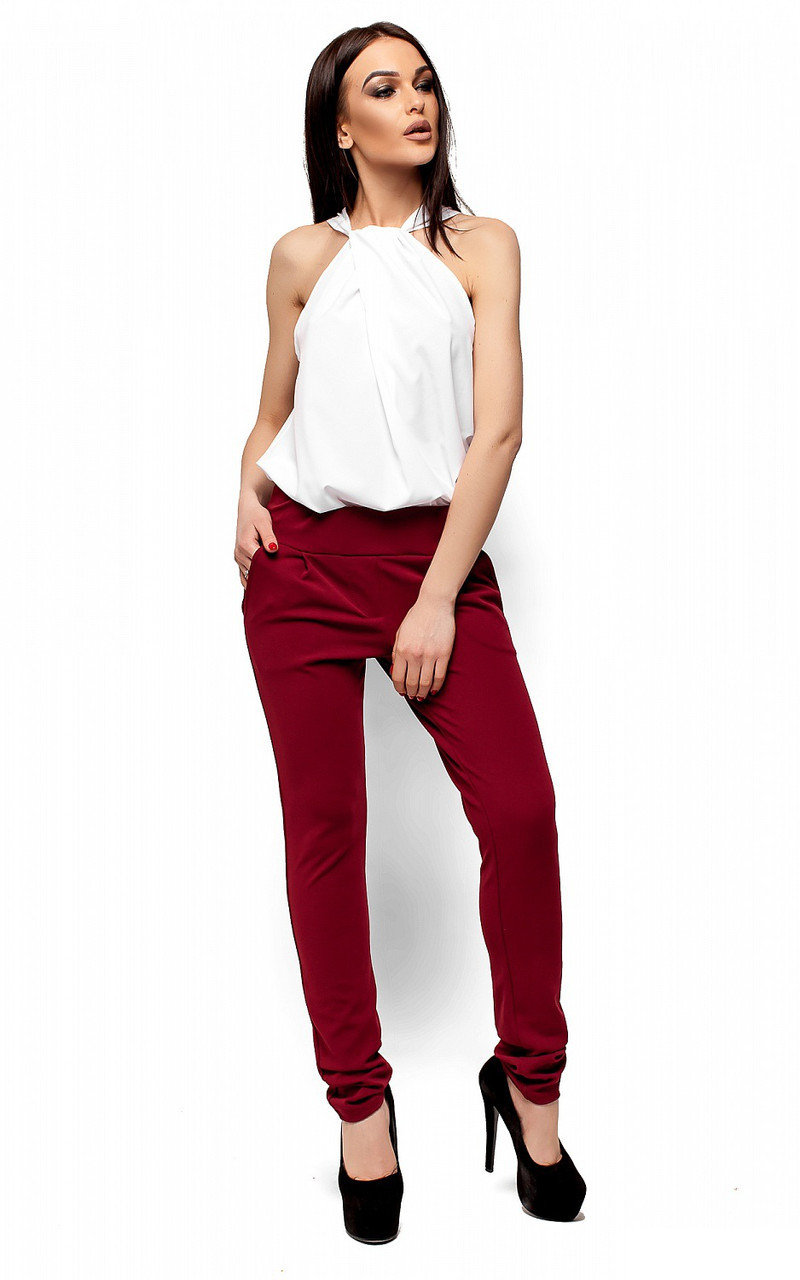 (S, M, L) Молодіжні марсалові брюки Milfor
