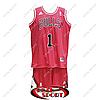Баскетбольная форма НБА Чикаго Буллc, Деррик Роуз №1, красная