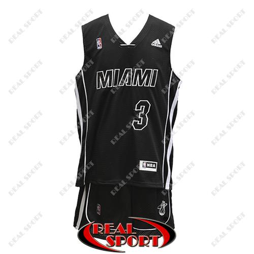 Баскетбольная форма НБА Майами Хит, Дуэйн Уэйд №3, черная