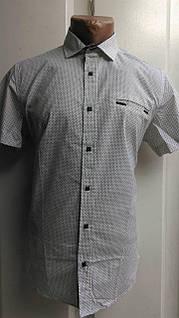 """Рубашка мужская на кнопках (M-3XL) """"Chip"""" RS1-5054"""