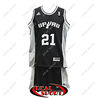 Баскетбольная форма НБА Сан-Антонио Спёрс, Данкан №21, черная, фото 1
