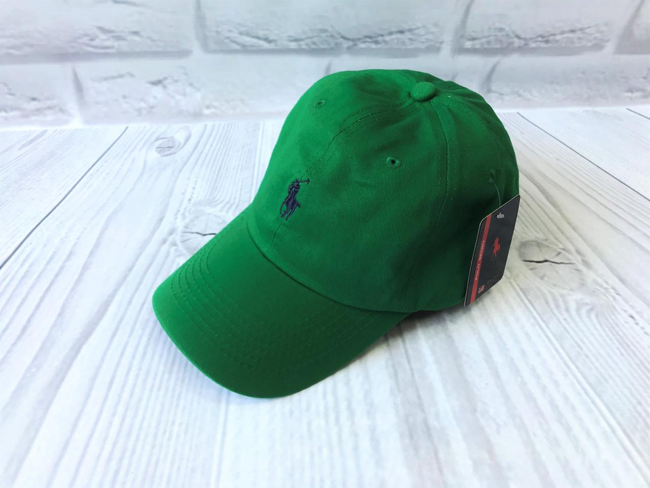 Кепка в стиле Polo зеленая