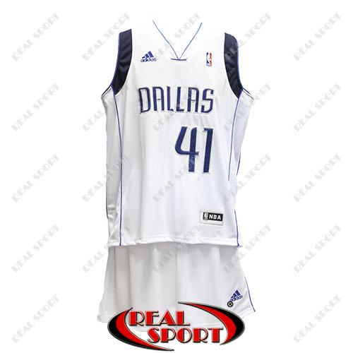 Баскетбольная форма НБА Даллас Маверикс, Дирк Новицки №41, белая