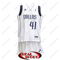Баскетбольная форма НБА Даллас Маверикс, Дирк Новицки №41, белая, фото 1